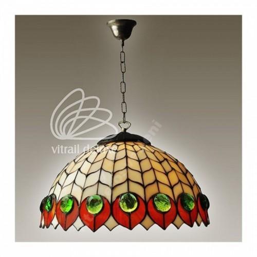 Vitrážovástojanová lampa F181420 List dubu,  2 x E27, max 60W