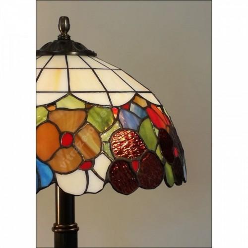 Závěsný vitrážový lustr P162208