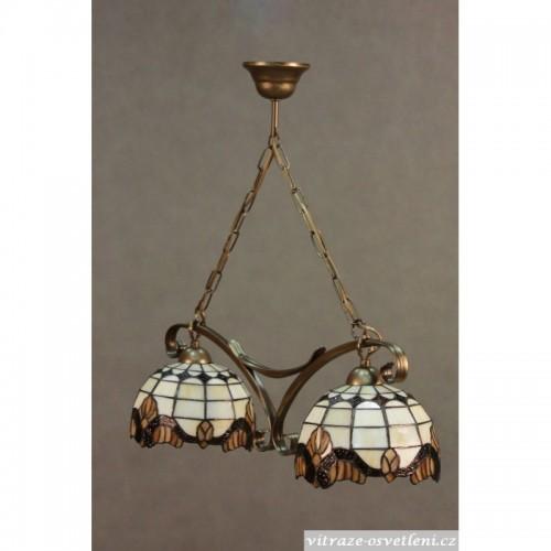 Závěsný vitrážový lustr Tiffany 2 PME 20 (vitraze-osvetleni)