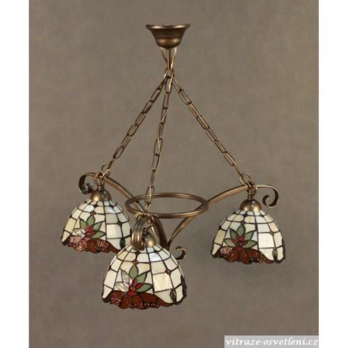 Vitrážový lustr Tiffany 3 PM 18 (vitraze-osvetleni)