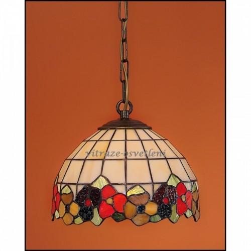 Nástěnné vitrážové svítidlo Sasanka 23 1526cb4a8a6