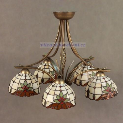 Vitrážový lustr Tiffany- 5KM18 (vitraze-osvetleni)