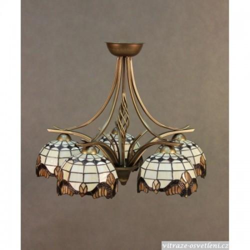 Vitrážový lustr Tiffany 5 KME 20 (vitraze-osvetleni)