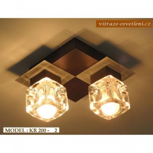 Moderní stropní svítidlo KR 200-2 na dvě žárovky