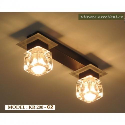 Moderní stropní svítidlo KR 200-C2 na 2 žárovky
