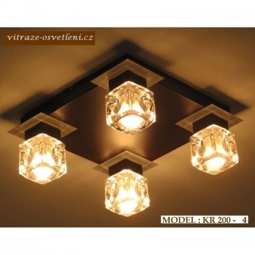 Moderní stropní svítidlo KR 200-4 na čtyři žárovky