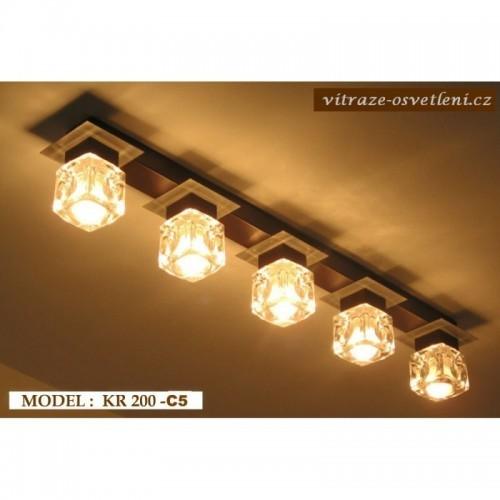 Moderní stropní svítidlo KR 200-C5 na pět žárovek