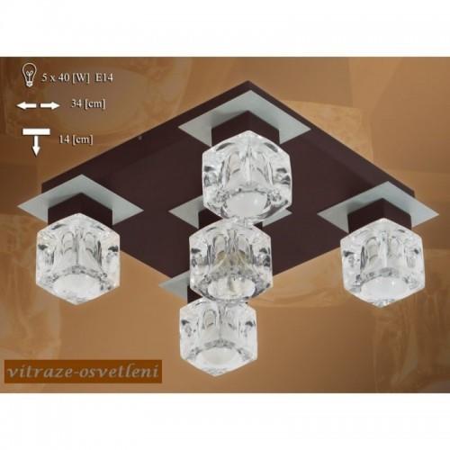 Moderní stropní svítidlo KR 200-5 na pět žárovek