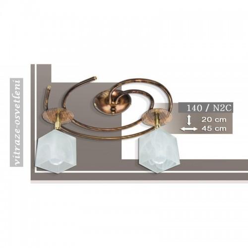 Moderní stropní lustr K140-N2C, 2x E14/40W