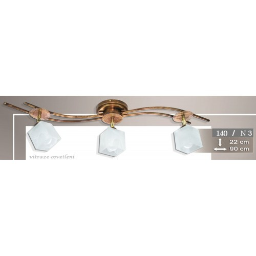 Moderní stropní lustr K140-N3, 3x E14/40W