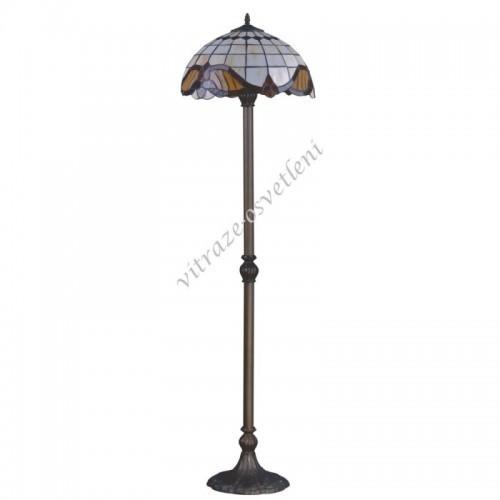 Stojací vitrážová lampa na 2 žárovky F161122