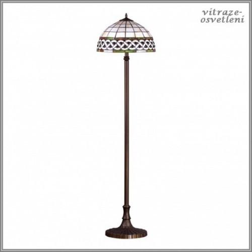 Stojanová vitrážová lampa F182208, 2 x E27, max 60W