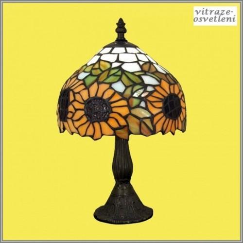 Vitrážová stolní lampa G081556 Slunečnice