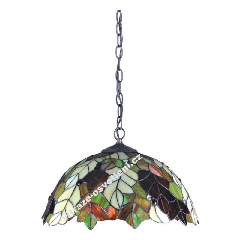 Vitrážový lustr (Kando) P161420 list dubu