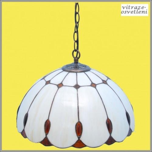 Vitrážový závěsný lustr P-K162611