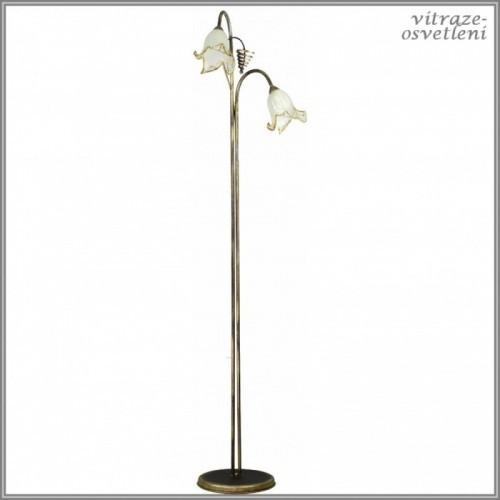 Klasická stojací lampa B451A, 2xE27/60W