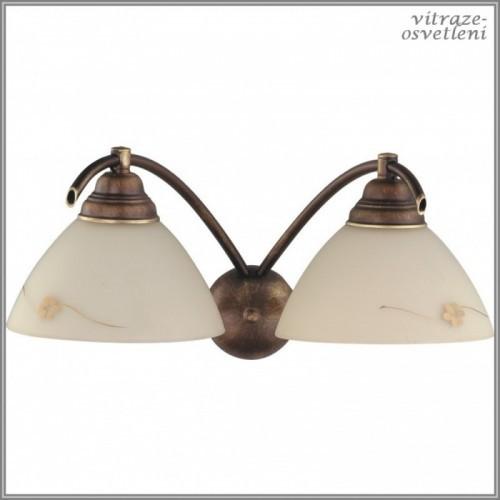 Klasická nástěnná lampa H377D, 2xE27/60W