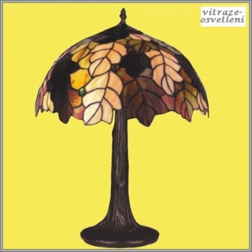 Vitrážová stolní lampa G-K161420, 41x56 cm