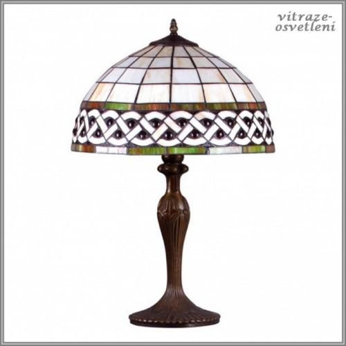 Vitrážová stolní lampa G162208, 59 cm
