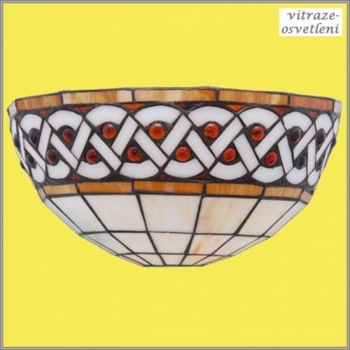 Vitrážové nástěnné svítidlo W122208 Calypso (Kando)