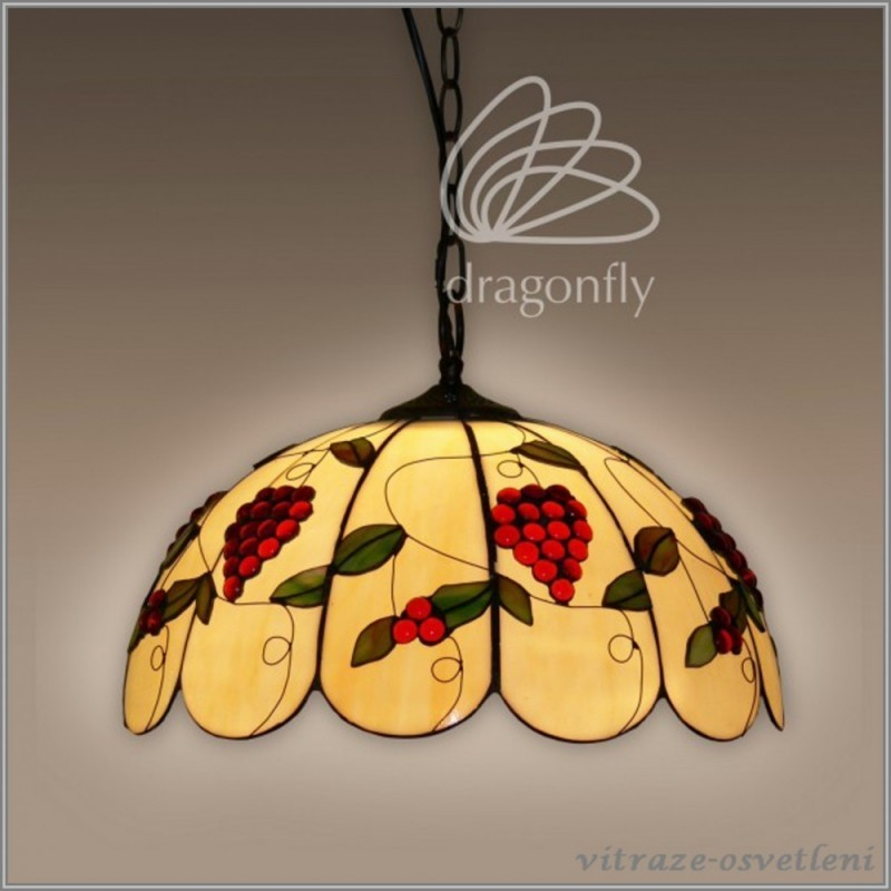 Vitrážový lustr P162373 Italia (Kando)