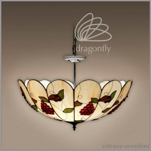 Vitrážový stropní lustr SC162373-3 Italia (Kando)