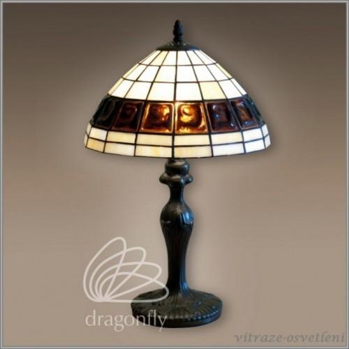 Vitrážová stolní lampa G121251 Olymp (Kando)