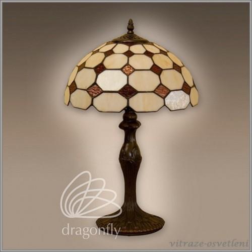 Vitrážová stolní lampa Arabica G121012 (Kando)