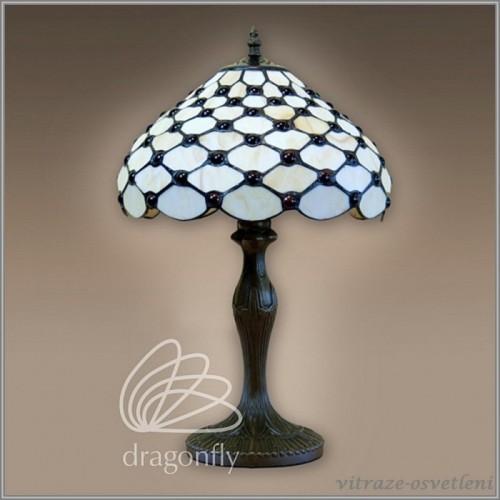 Vitrážová stolní lampa Baltica G12941 (Kando)