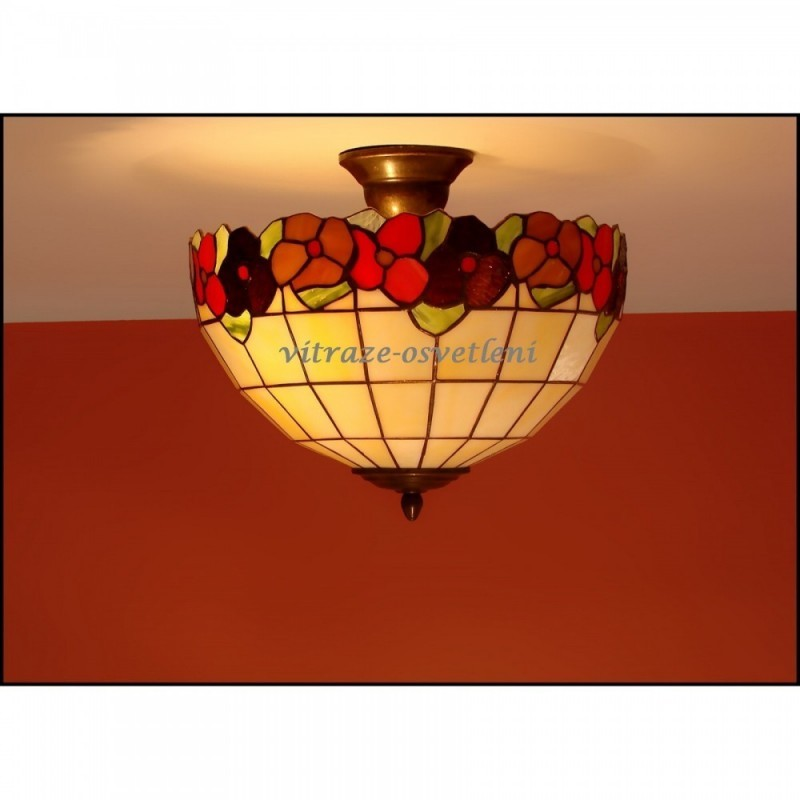 Vitrážové stropní svítidlo Sasanka 30-2 Ø30