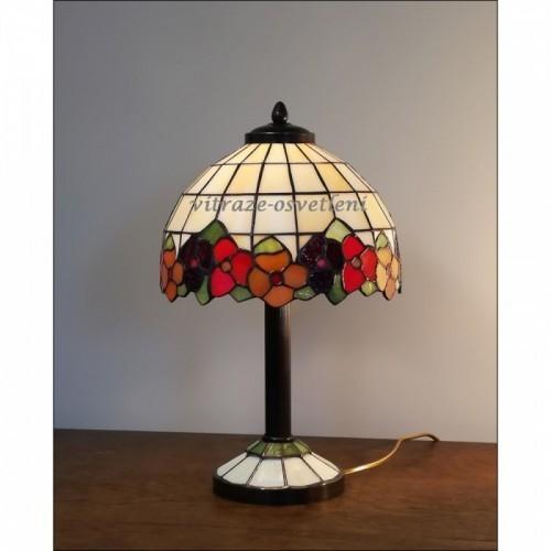 Tiffany stolní vitrážová lampa Sasanka -S23