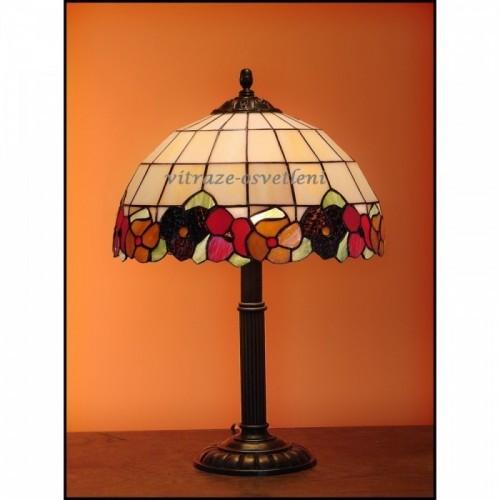 Tiffany stolní vitrážová lampa ANEMONY - S30