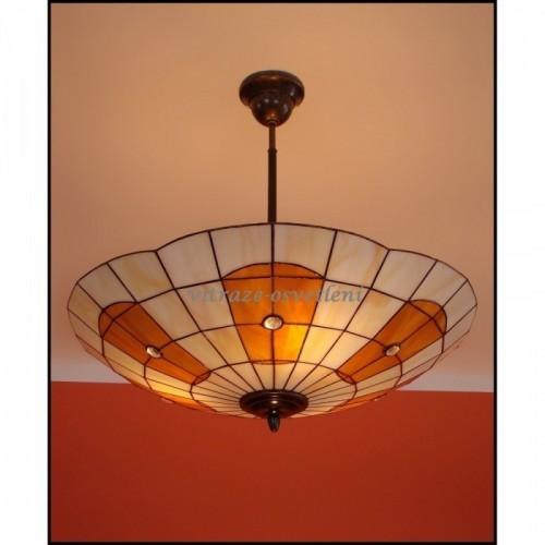 Vitrážový stropní lustr AM 52
