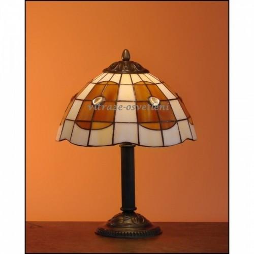 Vitrážová stolní lampa AM-S25