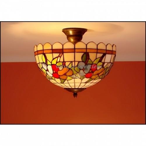 Vitrážový stropní lustr BR30-2-Ø30