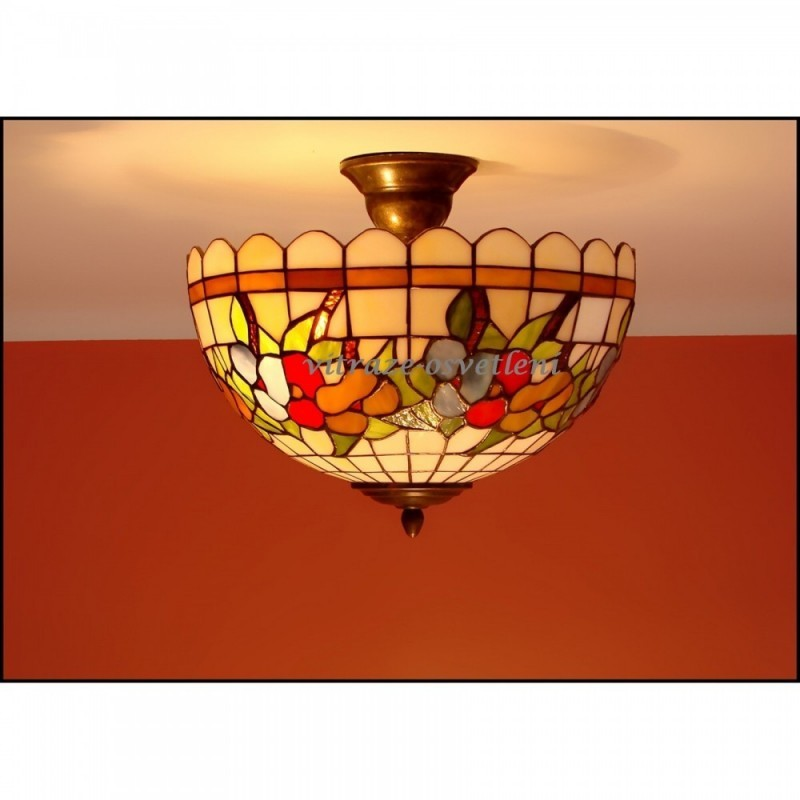 Vitrážový stropní lustr Macešky 30-2-Ø30