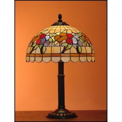 Vitrážová stolní lampa Macešky 30-S2 Ø30