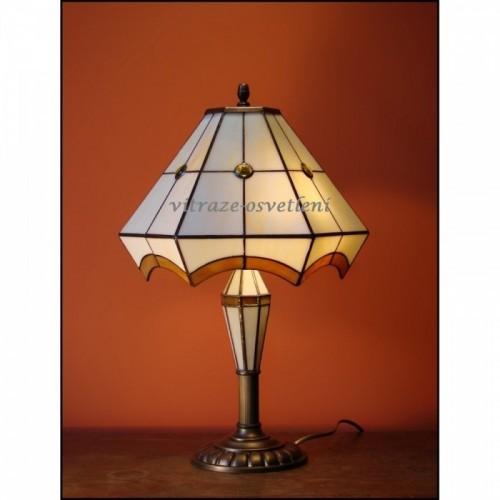 Vitrážová stolní lampa PIRÉS 30-S, Ø30