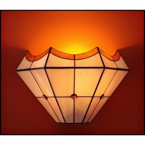 Vitrážová nástěnná lampa PIRÉS 30-N, Ø30