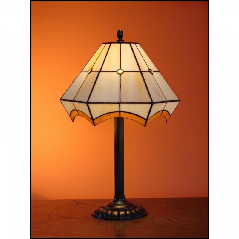 Vitrážová stolní lampa PIRÉS 30-S2, Ø30