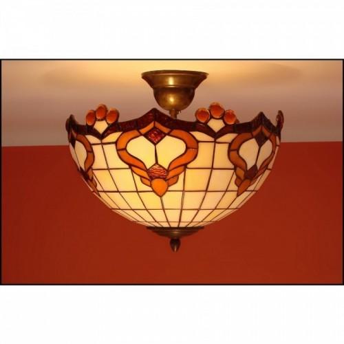 Vitrážový stropní lustr Rokaj-30, Ø30 (VO)