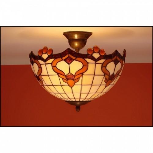 Vitrážový stropní lustr Rokaj-30, Ø30