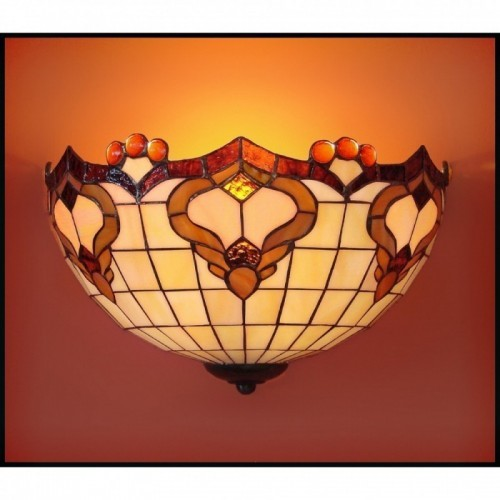 Vitrážová nástěnná lampa Rokaj 30-N