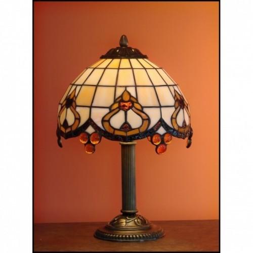 Vitrážová stolní lampa ROKOKO 23-S