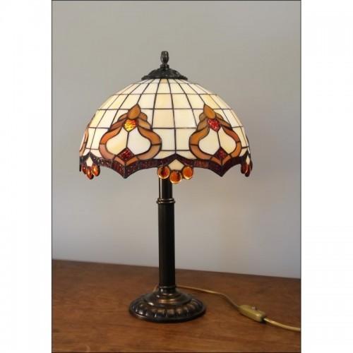 Vitrážová stolní lampa ROKOKO 30-S
