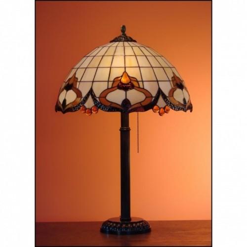 Vitrážová stolní lampa ROKOKO 40-S