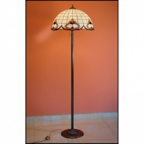 Vitrážová stojanová lampa ROKOKO 50-ST, Ø50