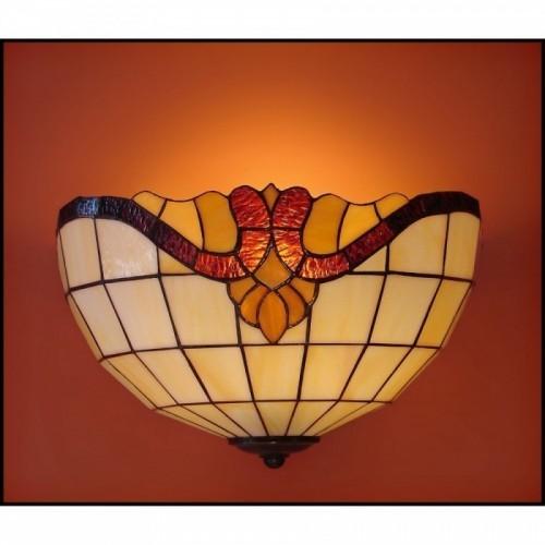 Vitrážové nástěnné svítidlo Baroko 2- N 30