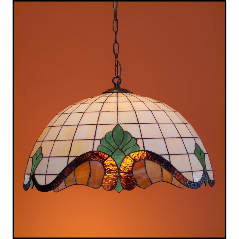 Vitrážový lustr Baroko 2 -50, Ø50