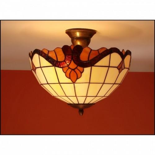 Vitrážový stropní lustr Baroko 2 30, Ø30